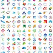 Vector logo & design elements Pack — ストックベクタ #9579776