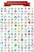 векторный логотип & дизайн элементы пакета — Cтоковый вектор