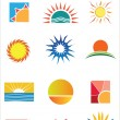 Sun Logo Pack — Stock Vector #9583588