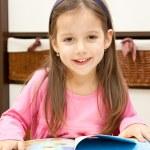 Happy preschool girl — Stock Photo