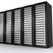 Multiple rack servers - Stock Photo