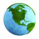 gräs jorden - Nordamerika — Stockfoto