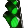All green traffic light — Stock Photo