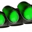 All green traffic light — ストック写真