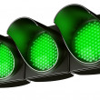 All green traffic light — Stockfoto
