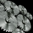 Aluminium gears — Stock Photo