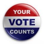 Badge - 2008 election — Stock Photo