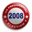 Badge - 2008 election — 图库照片
