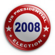 Badge - 2008 election — Foto de Stock
