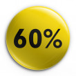 Badge - 60 percent off — Stock Photo