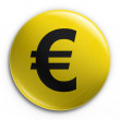 Badge - euro — Foto de Stock