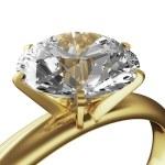 イエローゴールド ダイヤモンド リング — ストック写真