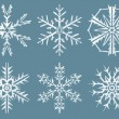 Stock Photo: Six snow flakes