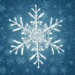 Blue Snow flake background — Stock Photo