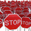 Stop signs — Stock Photo