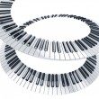 Spiral piano keys — Stock Photo