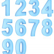 Translucent numbers - Stock Photo