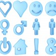 Stock Photo: Translucent symbols