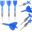 Multiple dart arrows — Stock Photo