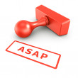 Stock Photo: ASAP stamp