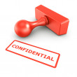 Confidential stamp — Stock Photo