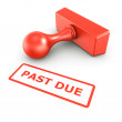 Past due stamp — Stock Photo