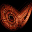 Orange Lorenz Attractor — Stock Photo