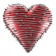 Heart with barbed wire — Stock Photo