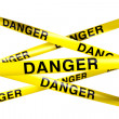 Danger caution tape — Stock Photo #8284313