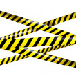 Blank caution tape — Stock Photo