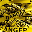 Danger caution tape — Stock Photo #8284322