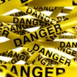 Stock Photo: Danger caution tape