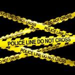 POLICELINE DO NOT CROSS — Stock Photo