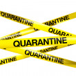 QUARANTINE tape — Stock Photo