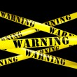Warning tape — Stock Photo