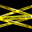 UNDER CONSTRUCTION tape — Stock Photo #8284365
