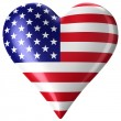 Stock Photo: Heart with americflag