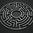 Circular maze — Stock Photo