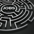 Maze - job search — 图库照片