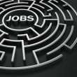 Maze - job search — Stockfoto