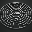 Maze - job search — Stock Photo