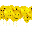 Balloons with smiley faces — Stock Photo
