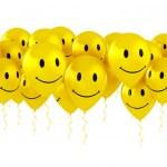 Luftballons mit Smileys — Stockfoto