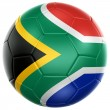 Stock Photo: South African soccer ball