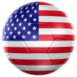 American soccer ball — Stock Photo
