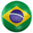 Brazilian soccer ball — Foto de Stock