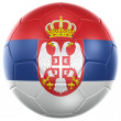 Serbian soccer ball — Stock Photo
