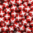 Danish Soccer balls — Stock Photo