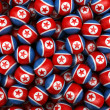 North Korean Soccer balls — Foto Stock