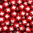 Swiss Soccer balls — Stock Photo